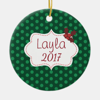 Customizable Classic Christmas with Name and Year Christmas Ornament