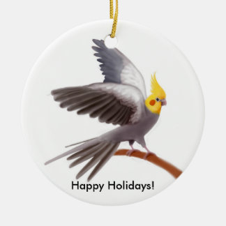 Customizable Cockatiel Parrot Ornament