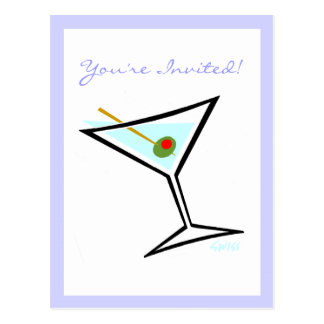 Customizable Cocktail Party Invitation Postcard