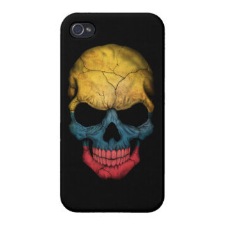 Customizable Colombian Flag Skull iPhone 4 Covers