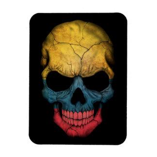 Customizable Colombian Flag Skull Magnet