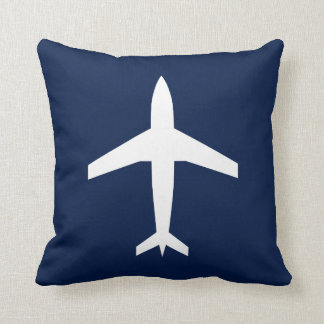 CUSTOMIZABLE COLOR Double Sided Aviation Airplane Throw Pillow