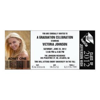 Customizable Color Graduation Admission Ticket Card