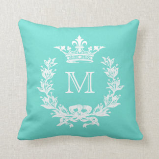 Customizable Color Monogram French Crown Cushion