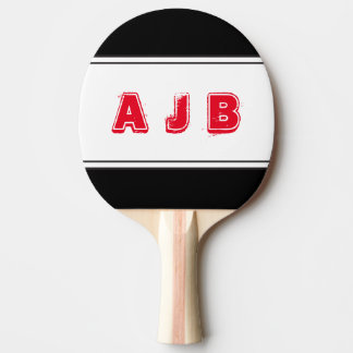 Customizable Color Monogram Red Stripes Paddle