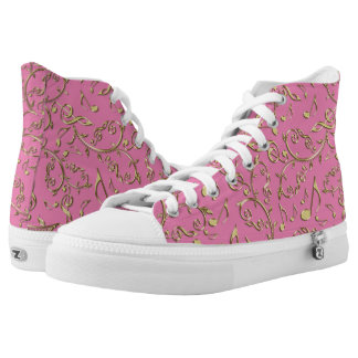 Customizable Color Music Notes Pattern High Tops