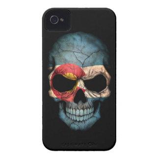 Customizable Colorado Flag Skull iPhone 4 Covers