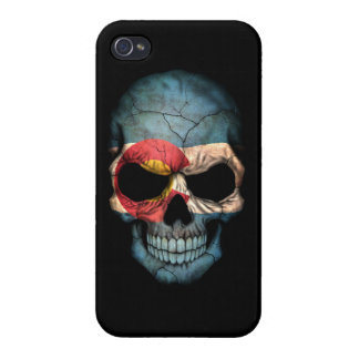 Customizable Colorado Flag Skull iPhone 4 Cases