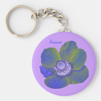 Customizable Colorful Fantasy Anemone Keychain