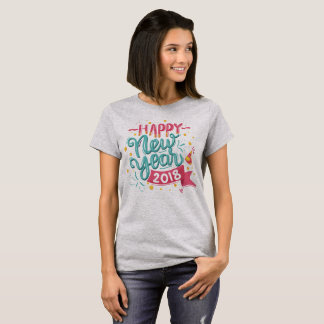 Customizable Colorful Happy New Year | Shirt