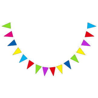 Customizable Colorful Party Bunting Banner Flags