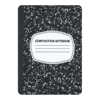 Customizable Composition Notebook Invitation