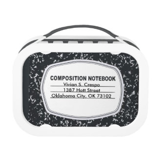 Customizable Composition Notebook Lunchbox