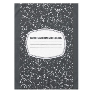 Customizable Composition Notebook Tablecloth