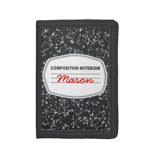 Customizable Composition Notebook Wallet