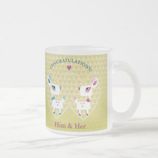 Customizable: Congratulations, deer Frosted Glass Coffee Mug