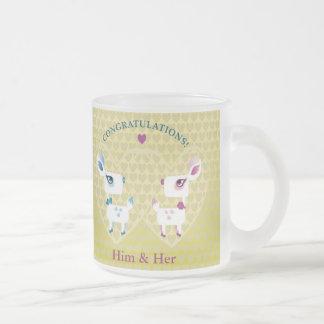 Customizable: Congratulations, deer Frosted Glass Mug