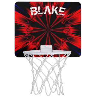 Customizable Cool Fractal Art Mini Basketball Hoop
