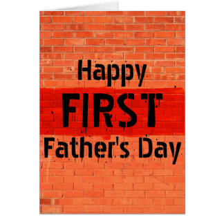Customizable Cool Unique Photo First Father's Day Greeting Card