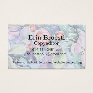 Customizable Crabapple Blossoms Card