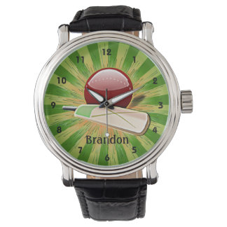 Customizable Cricket Design Watch