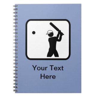 Customizable Cricket Logo Notebook
