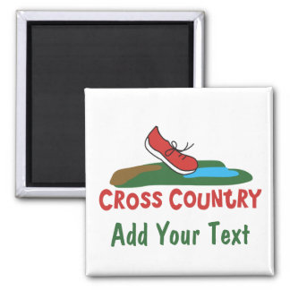 Customizable Cross Country Running Refrigerator Magnet