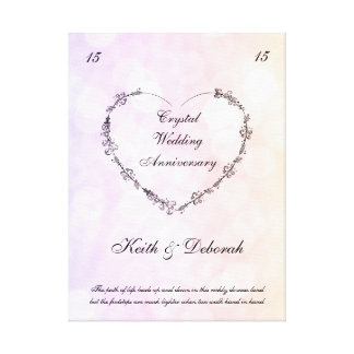 Customizable Crystal Wedding Anniversary Canvas Print