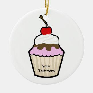 Customizable Cupcake Christmas Ornament