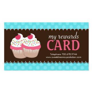 Customizable Cupcake Rewards Cards Pack Of Standard Business Cards