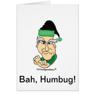Customizable Curmudgeon Christmas Card