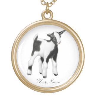 Customizable Cute Baby Goat Necklace