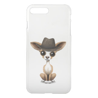 Customizable Cute Chihuahua Puppy Cowboy iPhone 7 Plus Case