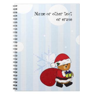 Customizable Cute Christmas Teddy Bear Notebook