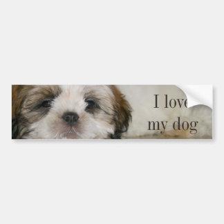 Customizable Cute Shih Tzu Dog Bumper Sticker