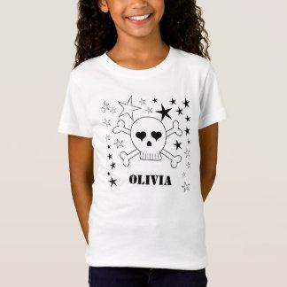 Customizable Cute Skull and Crossbones T-Shirt