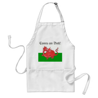 Customizable Cute Welsh Red Dragon Apron