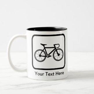 Customizable Cyclist Logo Two-Tone Coffee Mug