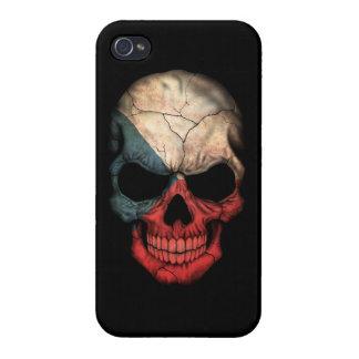 Customizable Czech Republic Flag Skull Cases For iPhone 4