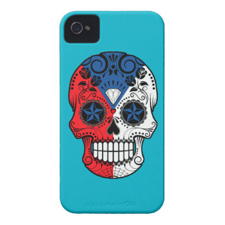 Customizable Czech Republic Sugar Skull with Roses iPhone 4 Cover