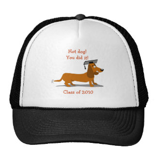 Customizable Dachshund Dog Graduation Template Trucker Hat