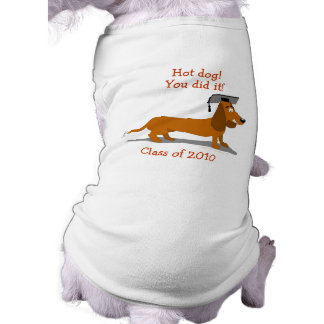 Customizable Dachshund Dog Graduation Template Shirt