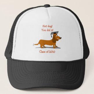 Customizable Dachshund Dog Graduation Template Trucker Hat