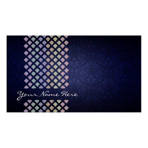 Customizable Damask Business Cards