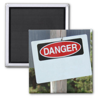 Customizable Danger Sign Magnet