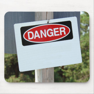 Customizable Danger Sign Mouse Mat