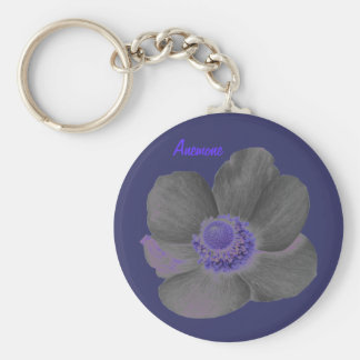 Customizable Dark Dreams Anemone Flower Keychain
