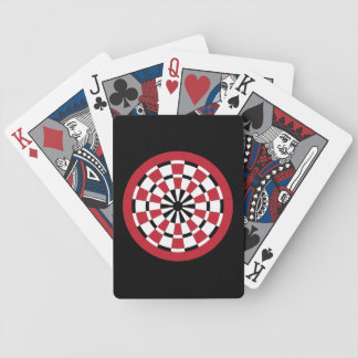 Customizable Dartboard Bicycle Playing Cards