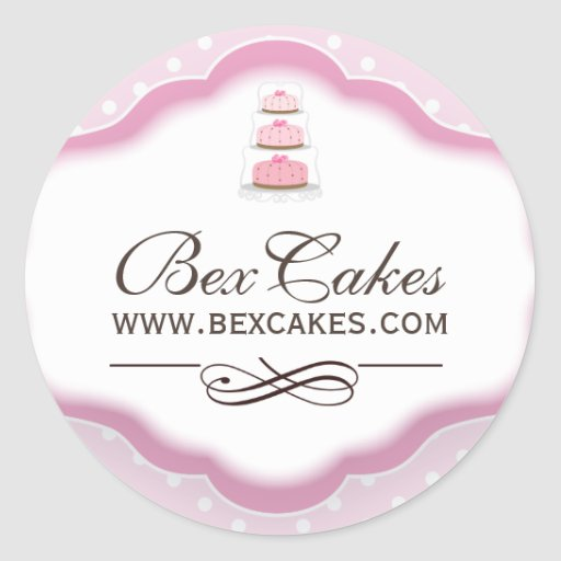Customizable Decorative Bakery Stickers
