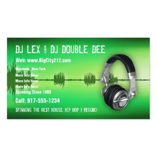 Premium DJ Business Card Templates Page2